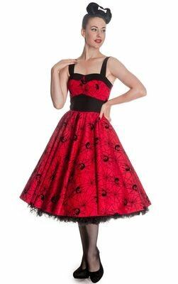 Hell Bunny Gothic Black Widow Dress