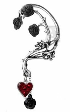 Alchemy Gothic Bed Of Blood Roses Wrap Earring