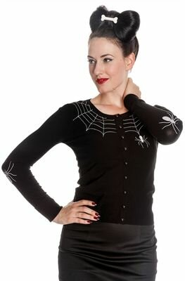 Hell Bunny Gothic Spider Cardigan