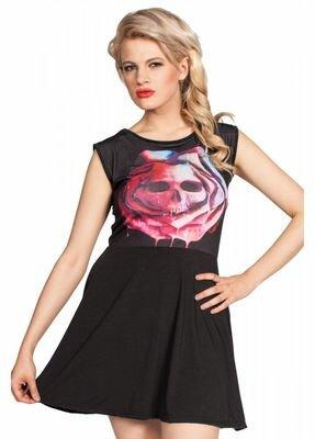 Cold Heart Mortem Rose Skater Dress