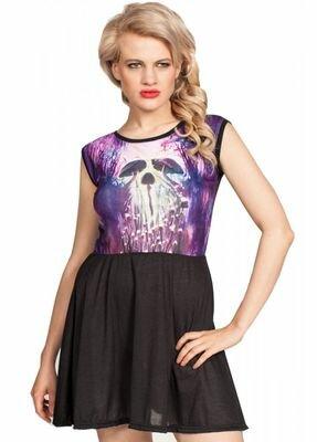 Cold Heart Mystical Mushrooms Skater Dress