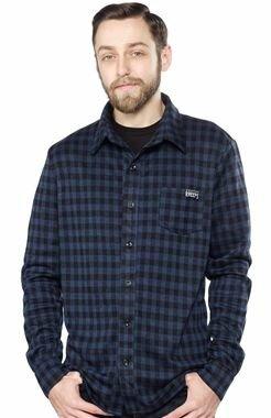 Sourpuss Alternative Navy Plaid Shirt