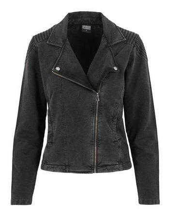Urban Classics Acid Wash Terry Biker Jacket