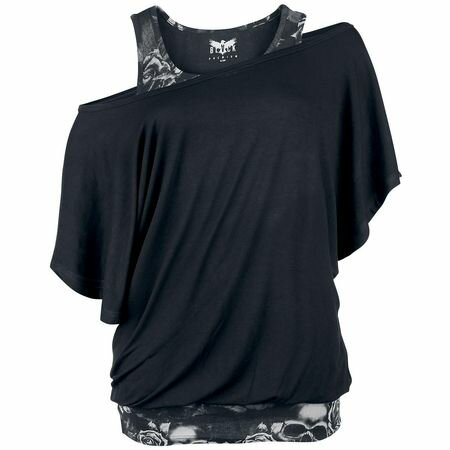 Black Premium Bat Double Layer Top