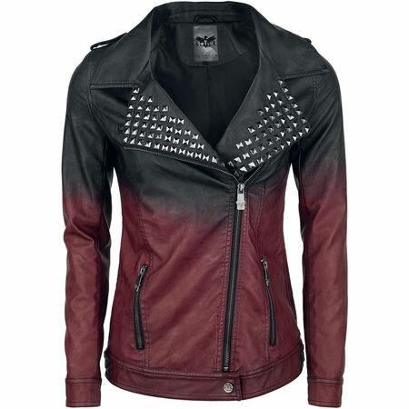 Black Premium Dip Dye PU-Jacket