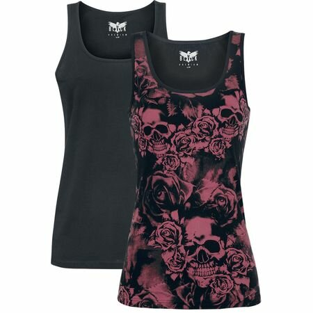 Black Premium Ladies Vest Tops
