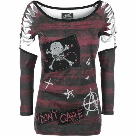 Full Volume Anarchy Cut-Out Longsleeve Top
