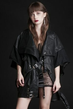 Widow Cold World Oversized PU Jacket