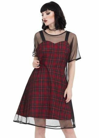 Jawbreaker Clothing Tartan Mesh Skater Dress