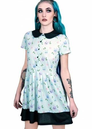 Fearless Illustration Bell Jar Peter Pan Dress