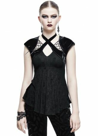Devil Fashion Olenna Gothic Skull Top