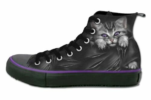 Spiral Direct Bright Eyes Gothic High Top Sneakers