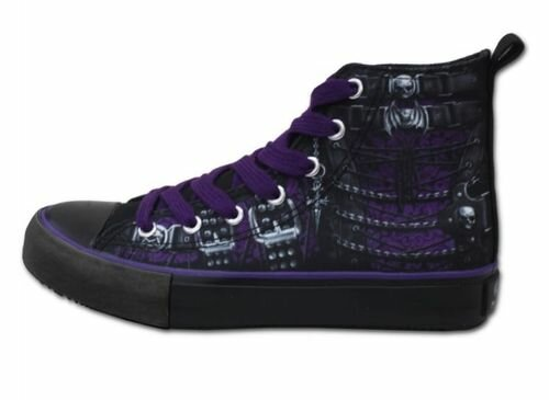 Spiral Direct Waisted Corset Gothic High Top Sneakers