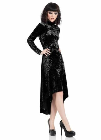 Jawbreaker Clothing High & Low Velvet Dress