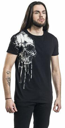 Black Premium Melting Skull T-Shirt