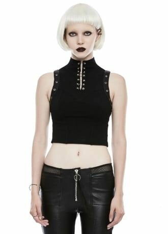 Punk Rave Gothic Disco Top